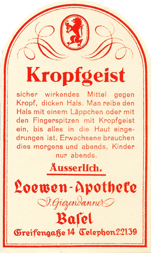 Die Löwen Apotheke Basel bietet ein grosses Medikamentensortiment an.