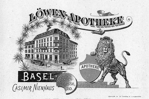 1876 wurde die Löwen Apotheke gegründet und 1877 von Casimir Nienhaus erworben.