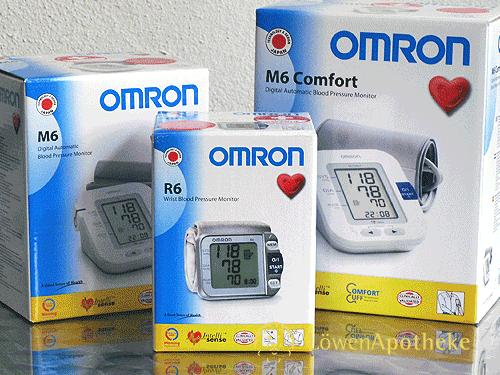 Einige Modelle unseres Sortimentes an Omron® Blutdruckmessgeräten